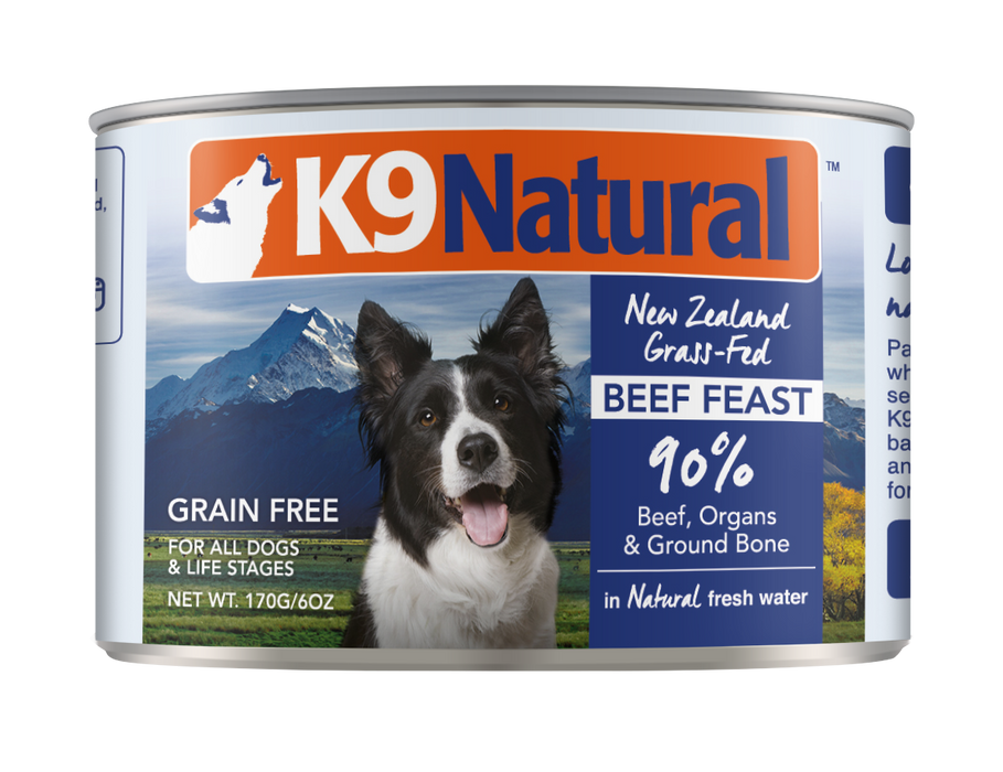 K9 Natural Canned Dog Food - Beef - 6oz