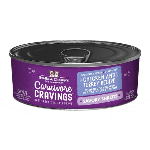 Stella & Chewy's Carnivore Cravings Savory Shreds Cat Food, Chicken & Turkey Recipe