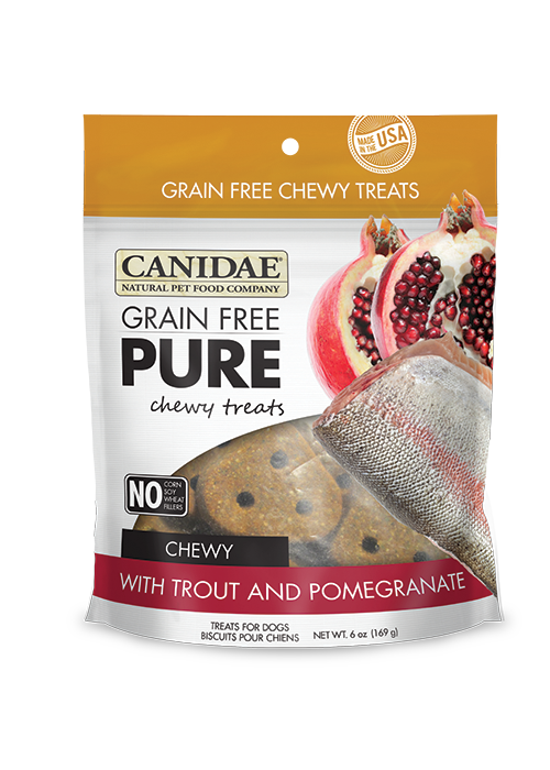 Canidae Pure Grain Free Trout & Pomegranate Treats 6oz