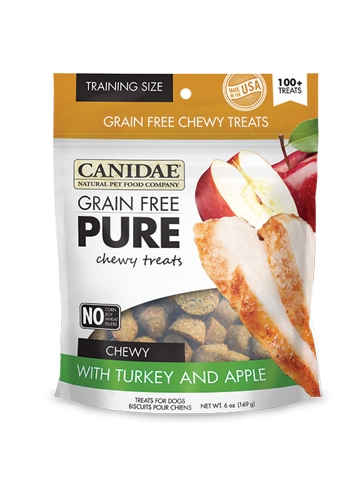 Canidae Pure Grain Free Turkey & Apple Treats 6oz