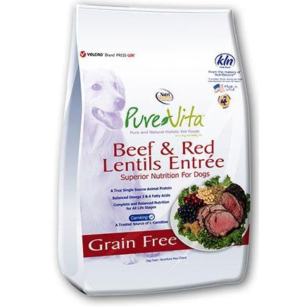 PureVita Grain Free Beef and Red Lentil 25 lb