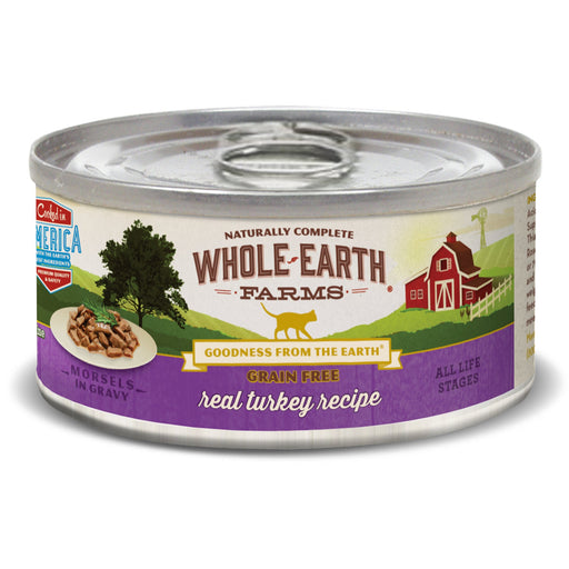 Merrick Whole Earth Farms Grain-Free Turkey Morsels in Gravy Cat Food, 5 oz