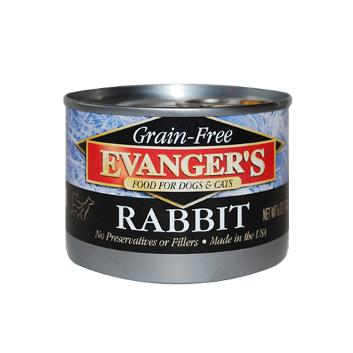 Evanger's Grain Free 100% Rabbit Dog/Cat Can Food 6oz