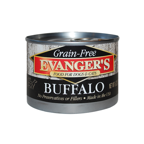 Evanger's Grain Free 100% Buffalo Dog/Cat Can Food 6oz