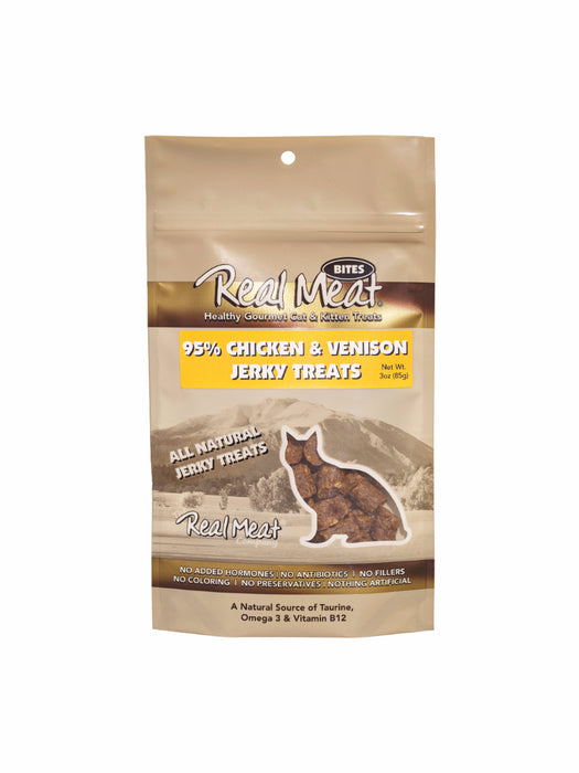 Real Meat Treat Cat Chicken and Venison 3 oz