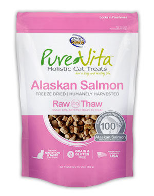 PureVita Freeze Dried Alaskan Salmon Cat Treats 1.1 oz