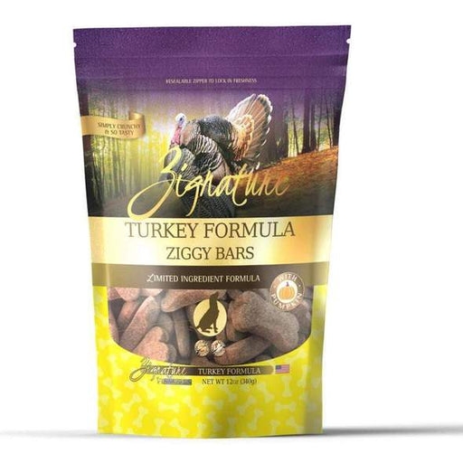 Zignature Ziggy Bars Treat, Turkey Formula, 12 oz