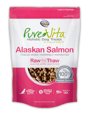 PureVita Freeze Dried Alaskan Salmon Dog Treats 2.2 oz