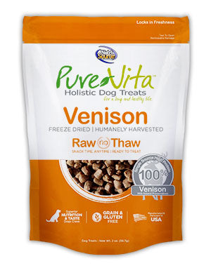 PureVita Freeze Dried Venison Dog Treats 2.2 oz