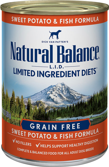 Natural Balance Limited Ingredients Diet: Fish & Sweet Potato 13 oz