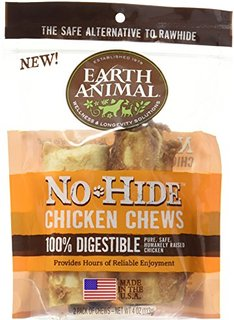 Earth Animal No Hide Chicken Chews - 4 Inches 2 Pack