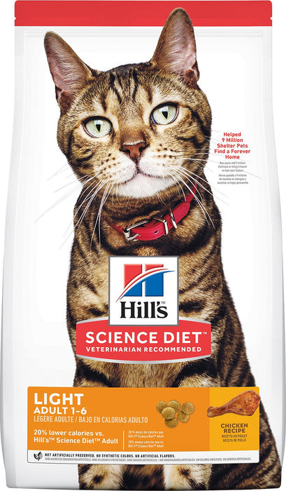 Science Diet Feline Adult Light Dry 7 lb