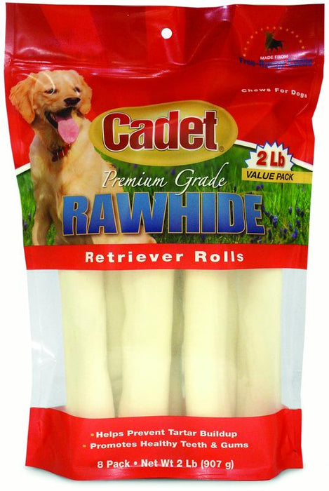 Cadet Rawhide Natural Rolls 10 in 8-Pack