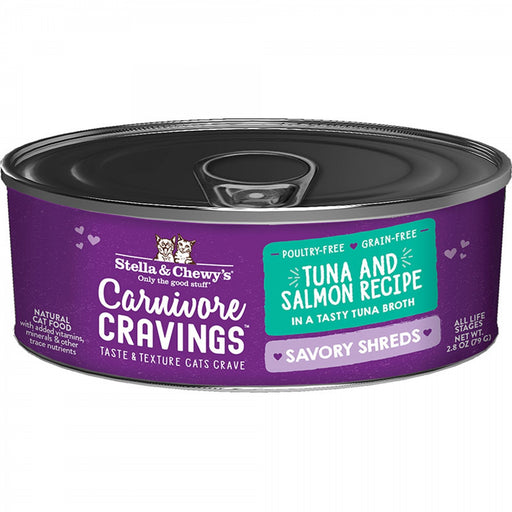 Stella & Chewy's Carnivore Cravings Savory Shreds Cat Food, Tuna & Salmon Recipe