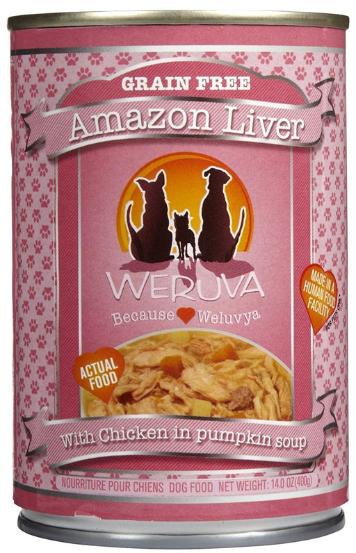 Weruva Amazon Liver Dog Food 14 oz