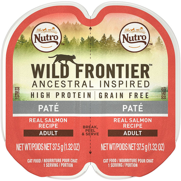 Nutro Wild Frontier Salmon Perfect Portions Cat Food 2.6 oz