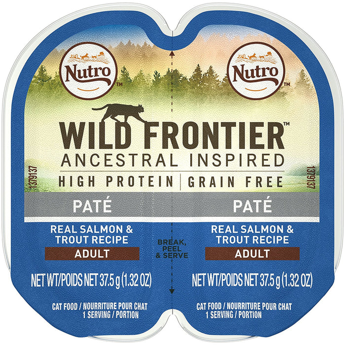 Nutro Wild Frontier Salmon and Trout Perfect Portions Cat Food 2.6 oz