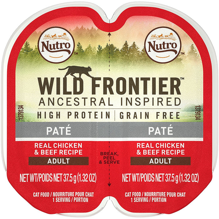 Nutro Wild Frontier Chicken and Beef Perfect Portions Cat Food 2.6 oz
