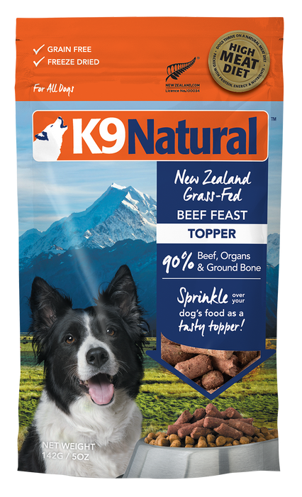 K9 Natural Freeze Dried Topper - Beef 5oz