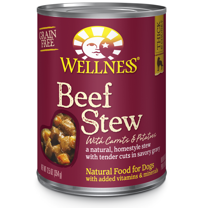 Wellness Beef Stew Dog Food 12.5 oz