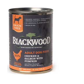 Blackwood Dog Canned Chicken Salmon and Pumpkin 13 oz