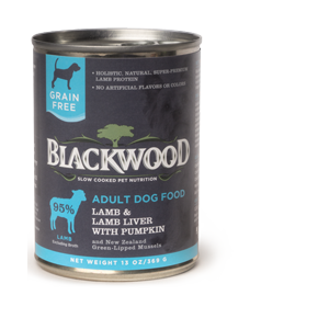 Blackwood Dog Canned Lamb Liver and Pumpkin 13 oz