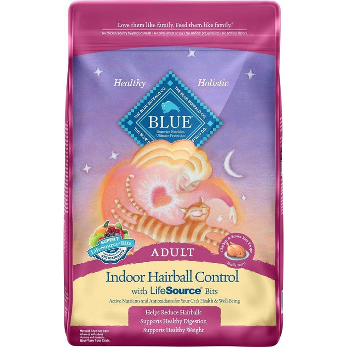 Blue Buffalo Indoor Hairball Chicken Cat Food 3 lbs