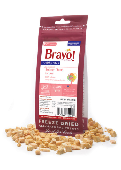 Bravo Healthy Bites Salmon Cat Treat 1 oz