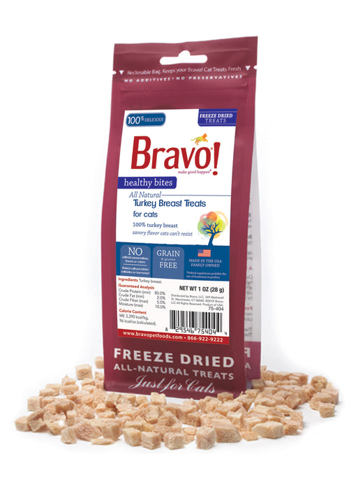 Bravo Healthy Bites Turkey Breast Cat Treat 1 oz
