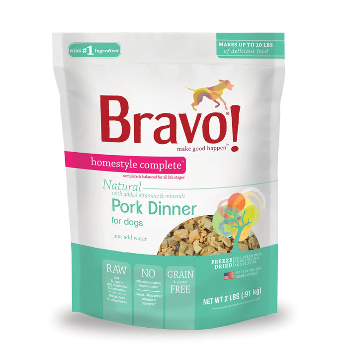 Bravo Homestyle Complete Freeze Dried Dinner Pork