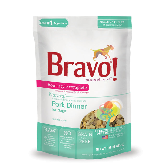 Bravo Homestyle Complete Freeze Dried Dinner Pork 6 lb