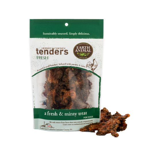 Earth Animal Chicken Tenders Treat, Fresh: Parsley & Mint 4 oz