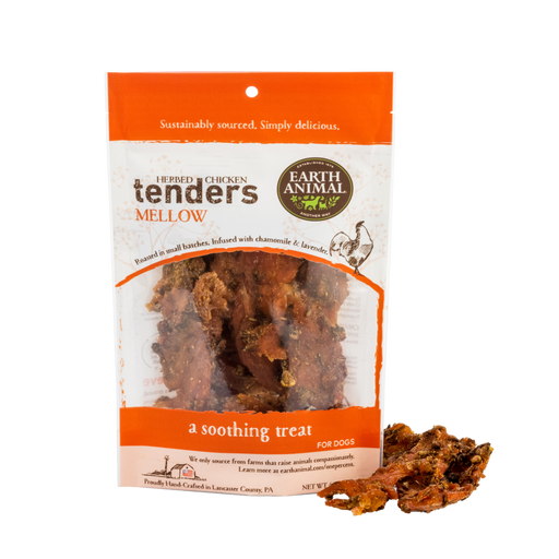 Earth Animal Chicken Tenders Treat, Mellow: Lavender & Chamomile 4 oz