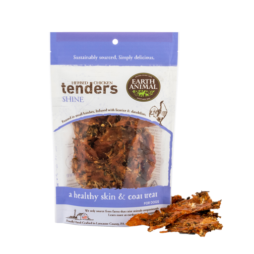 Earth Animal Chicken Tenders Treat, Shine: Licorice & Dandelion 4 oz