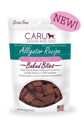 Caru Dog Treat Natural Alligator Bites 4 oz