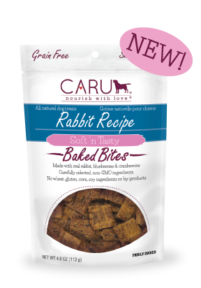 Caru Dog Treat Natural Rabbit Bites 4 oz