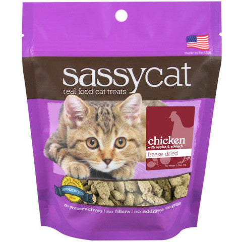 Sassy Cat Treats Freeze Dried Chicken 1.25 oz