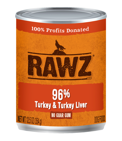 Rawz 96% Turkey & Turkey Liver 12.5oz