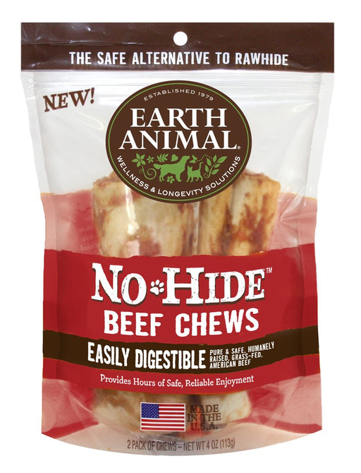 Earth Animal No Hide Beef Chews - 2 Pack