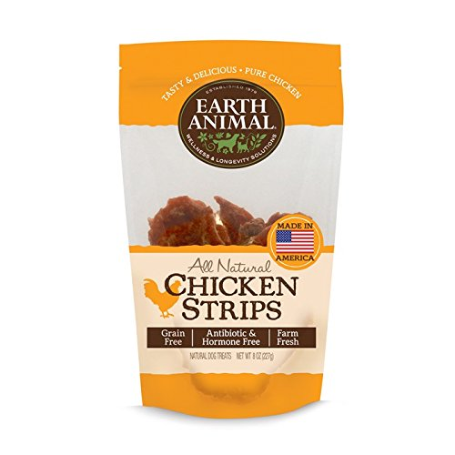 Earth Animal Chicken Strips USA 8 oz All Natural
