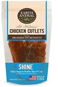 Earth Animal Chicken Cutlets USA 8 oz Shiny  Skin