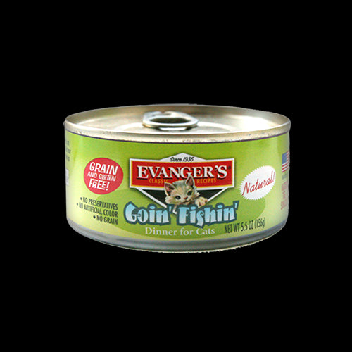 Evangers Cat Can Gourmet Classic Goin  Fishin  5.5 oz