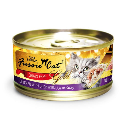 Fussie Cat Premium Chicken and Duck in Gravy Canned Cat Food 2.82 oz