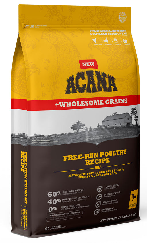 Acana Free-Run Poultry + Wholesome Grains Recipe For Dogs