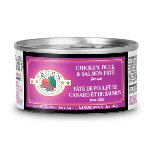 Fromm 4-Star Chicken Duck and Salmon Pate Cat Food 5 oz