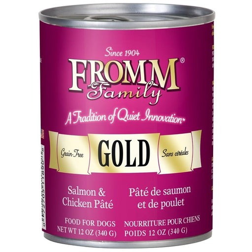 Fromm Gold Salmon and Chicken Pate 12 oz