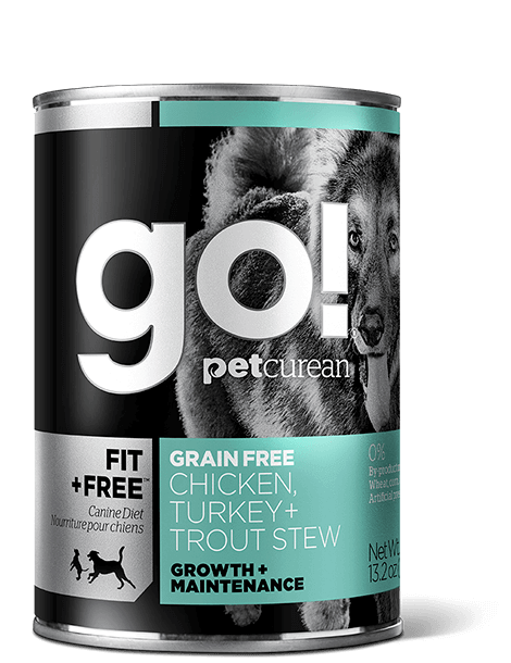 Go! Fit + Free Grain Free Chicken, Turkey, Trout Stew 13.2 oz
