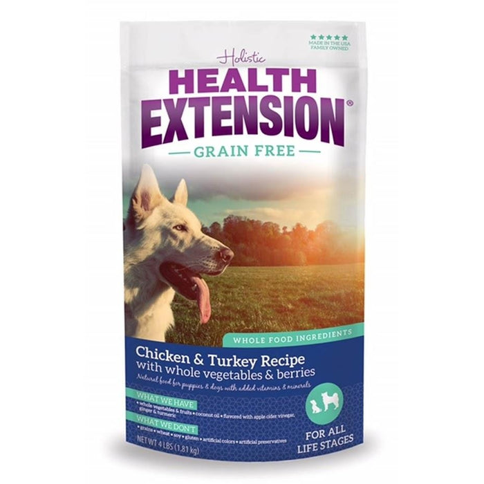 Holistic Health Extension Grain Free Chicken and Turkey Dog Food 4 lbs
