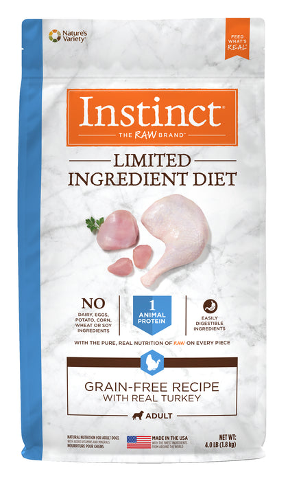Nature's Variety Instinct LID Turkey Dog Food 4 lb