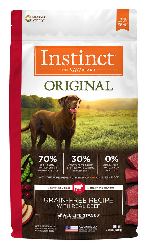 Nature's Variety Instinct Original Beef Dog Food 4 lb